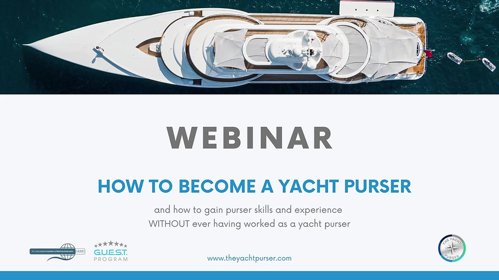 How to become a yacht purser