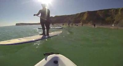 Pourville, des collégiens sessaient au paddle