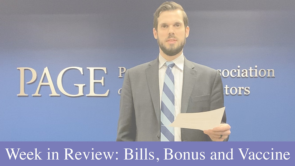 Week in Review: Bills, Bonus, and Vaccine
