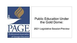 PAGE 2021 Legislative Preview