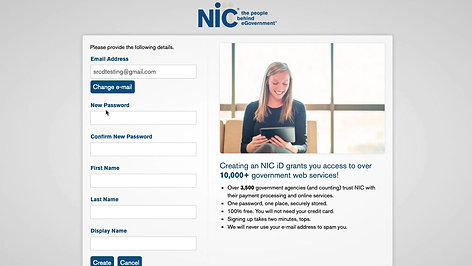 Initial Sign Up for SRCD Payment Site
