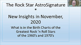 AstroSignature for Rock Musicians: New Insights in 2020