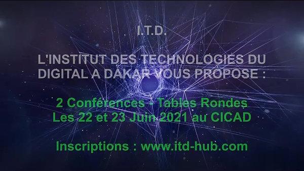 DAKAR ITD ENERGY MIX Conférences DAKAR CICAD les 22-23 Juin 2021