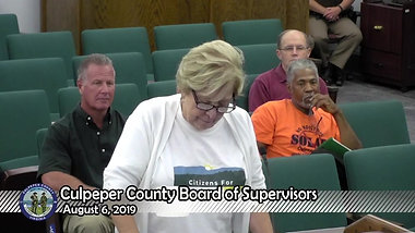 Culpeper: Green projects should not destroy green resources