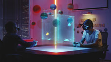 teens-playing-holographic-game-4MBCCDN