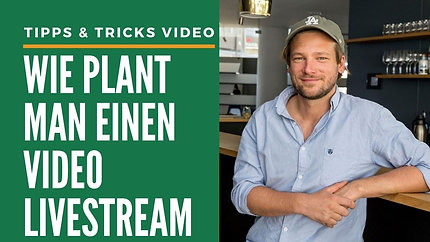 Wie plant man einen Video-Livestream