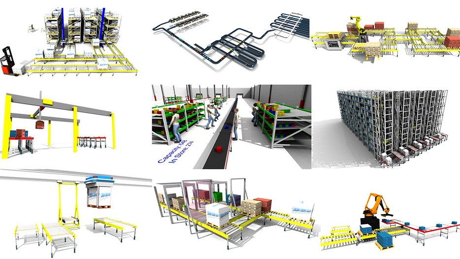 Sim Logistics Example Videos