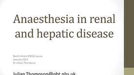 Liver & Renal Disease for FRCA