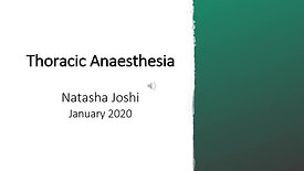 Anaesthesia for Thoracic Surgery