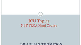 ICU Topics for FRCA