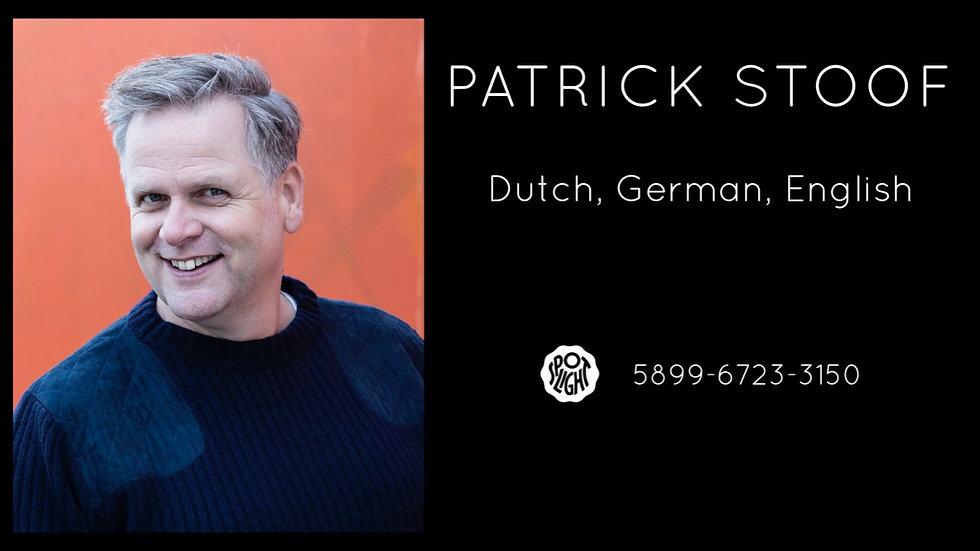 Showreel Patrick Stoof
