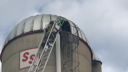 St Thomas silo fire - Franklin Truck 42