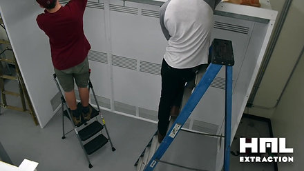 HAL Extraction Hood Installation Time lapse