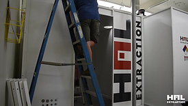 HAL Extraction Booth Installation Time-lapse