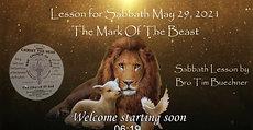 Sabbath Lesson May 29, 2021