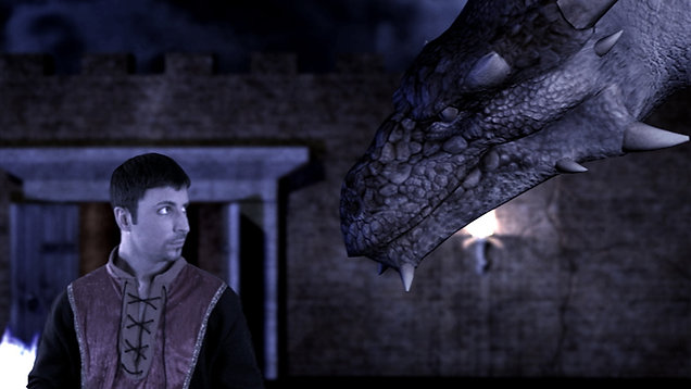 """Darius' Castle"" scene from The Land of Agora"