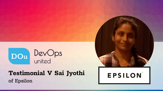 DevOps United Testimonial V Sai Jyothi of Epsilon