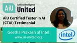 AiU CTAI Testimonial from Geetha Prakash of Intel