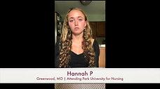 Hear from Hannah - 2020