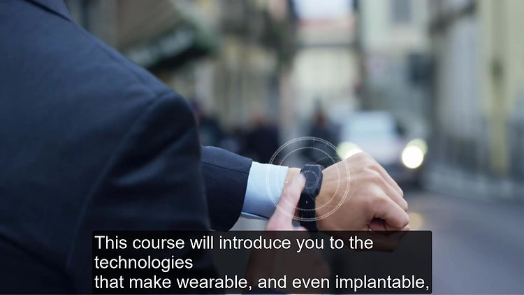 Wearable Technologies - Preview Video