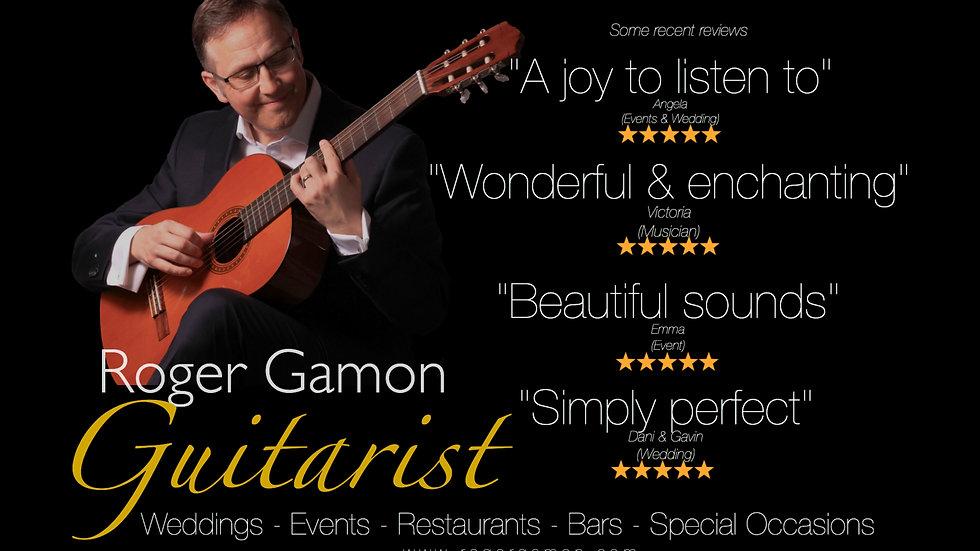 Roger Gamon guitarist: weddings restaurants