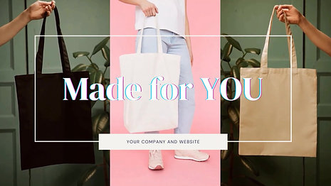 Designed by you to be designer bags for them