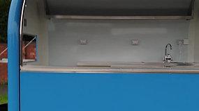Blue Trailer Interior and Exterior