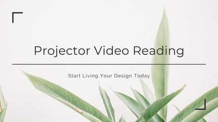 Projector Video Reading Masterclass