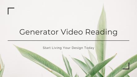 Generator Video Reading Masterclass