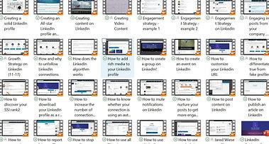 Course content - 50 videos!