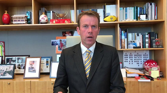 Teachers - Following is a video from Minister Tehan to Teachers re the COVID – 19