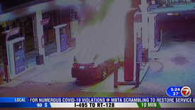 Suspicious Gas Station Explosion
