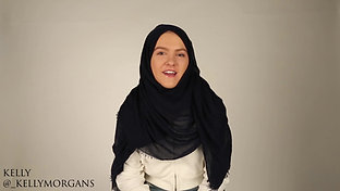 Non Muslims try on the Headscarf