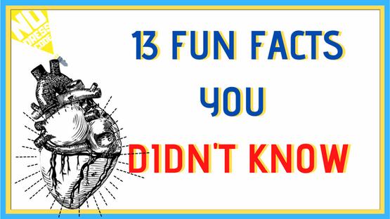 13 FUN FACTS YOU DIDN'T KNOW