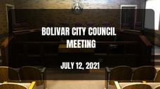 Bolivar City Council Meeting - July 12, 2021