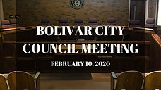 Bolivar City Council Meeting - 2/10/2020