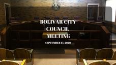 Bolivar City Council - September 14, 2020