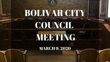 Bolivar City Council Meeting - 3/9/2020