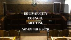 Bolivar City Council Meeting-November 9, 2020