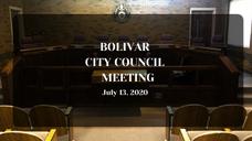 Bolivar City Council Meeting - July 13, 2020