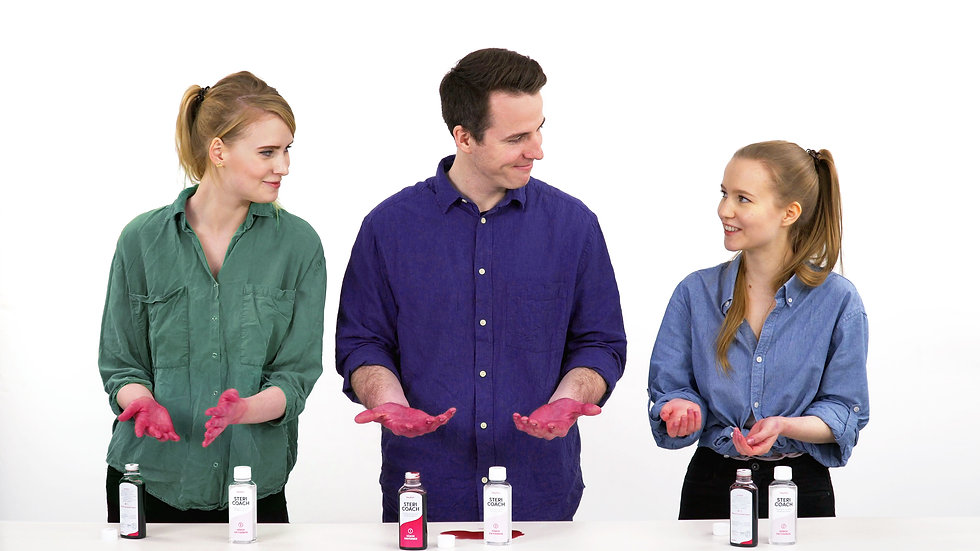 SteriCoach® – Sichtbarer Erfolg bei der Händedesinfektion