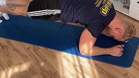 Plank/ Brett + dynamisches Beinanziehen