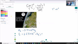Tutorial with student - Kepler's 3rd law of planetary motion