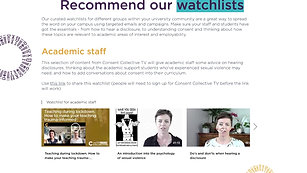 Use watchlists to engage staff and students