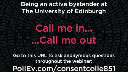Being an active bystander at The University of Edinburgh