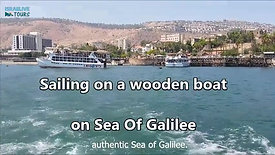 Wooden boats in the Sea Of Galilee