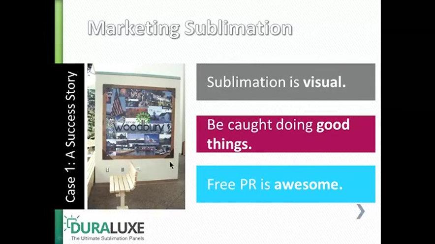 Marketing Case study about sublimation