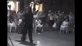 Elena dances Salsa on the streets