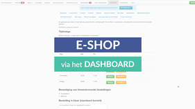 TUTORIAL ~ E-SHOP instellen & gebruiken via het DASHBOARD