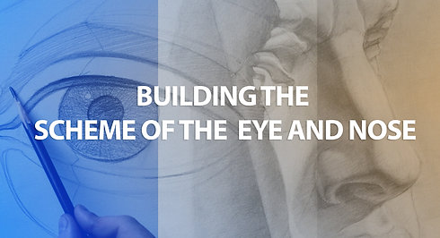 Building the scheme of the eye and the nose